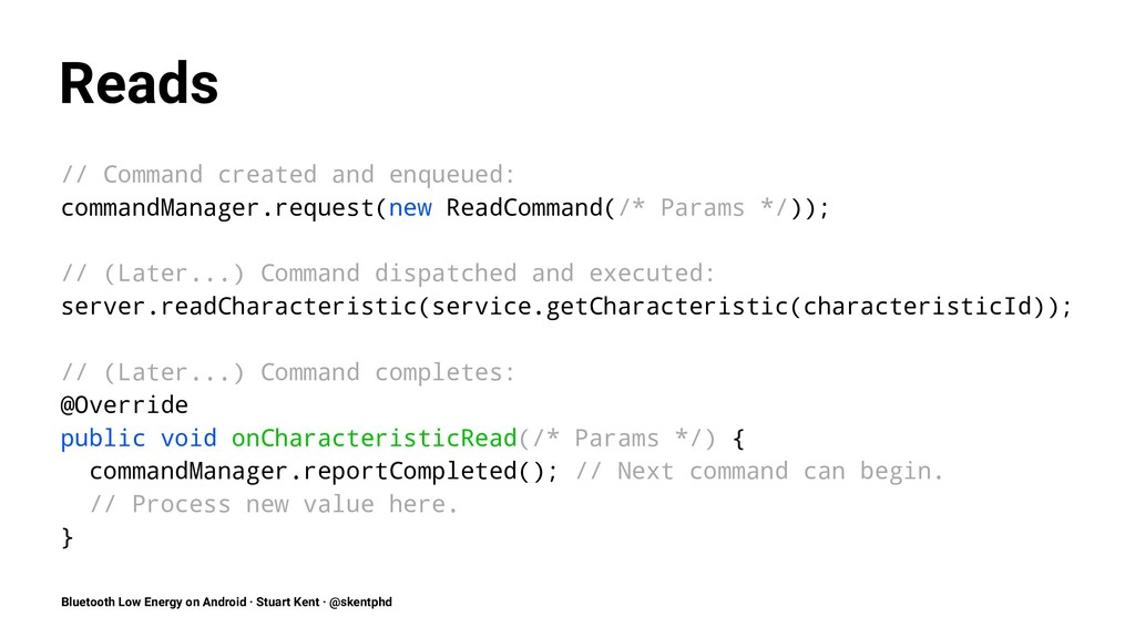 Reads // Command created and enqueued: commandM...