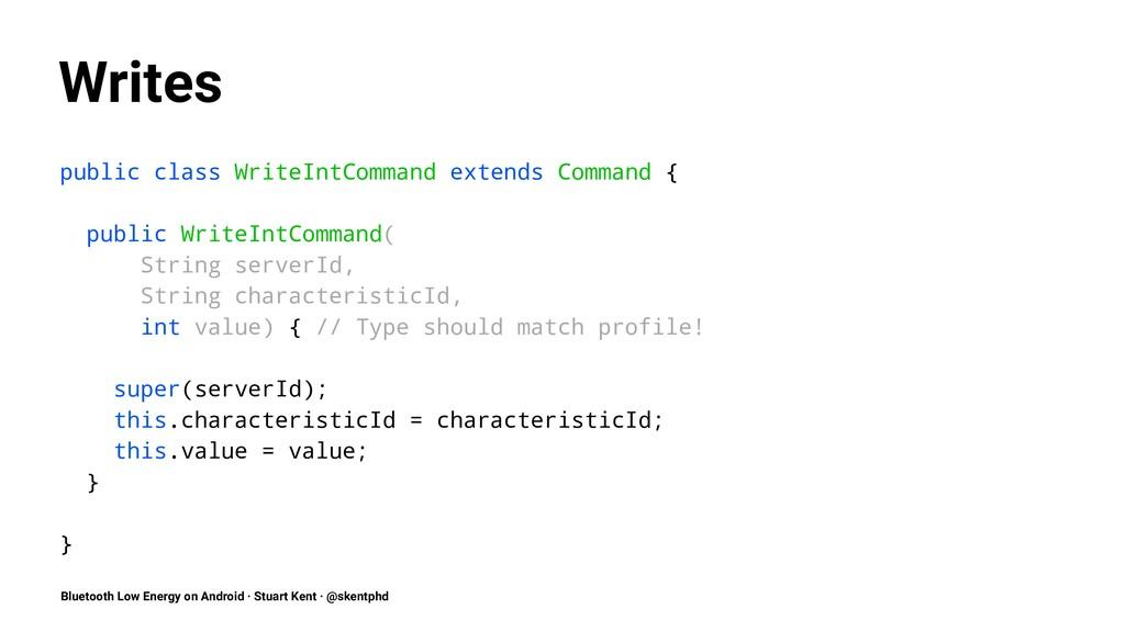 Writes public class WriteIntCommand extends Com...