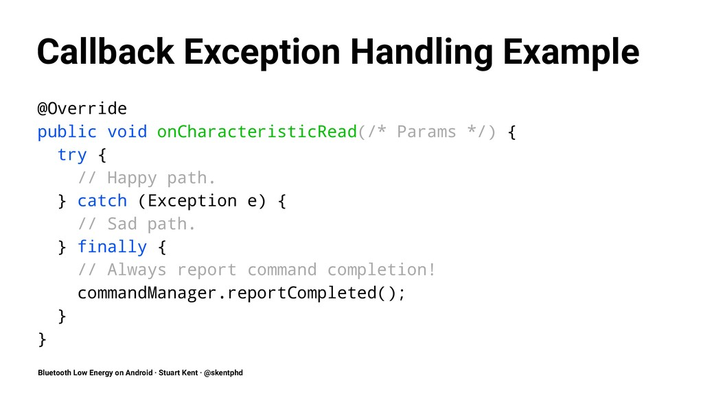 Callback Exception Handling Example @Override p...