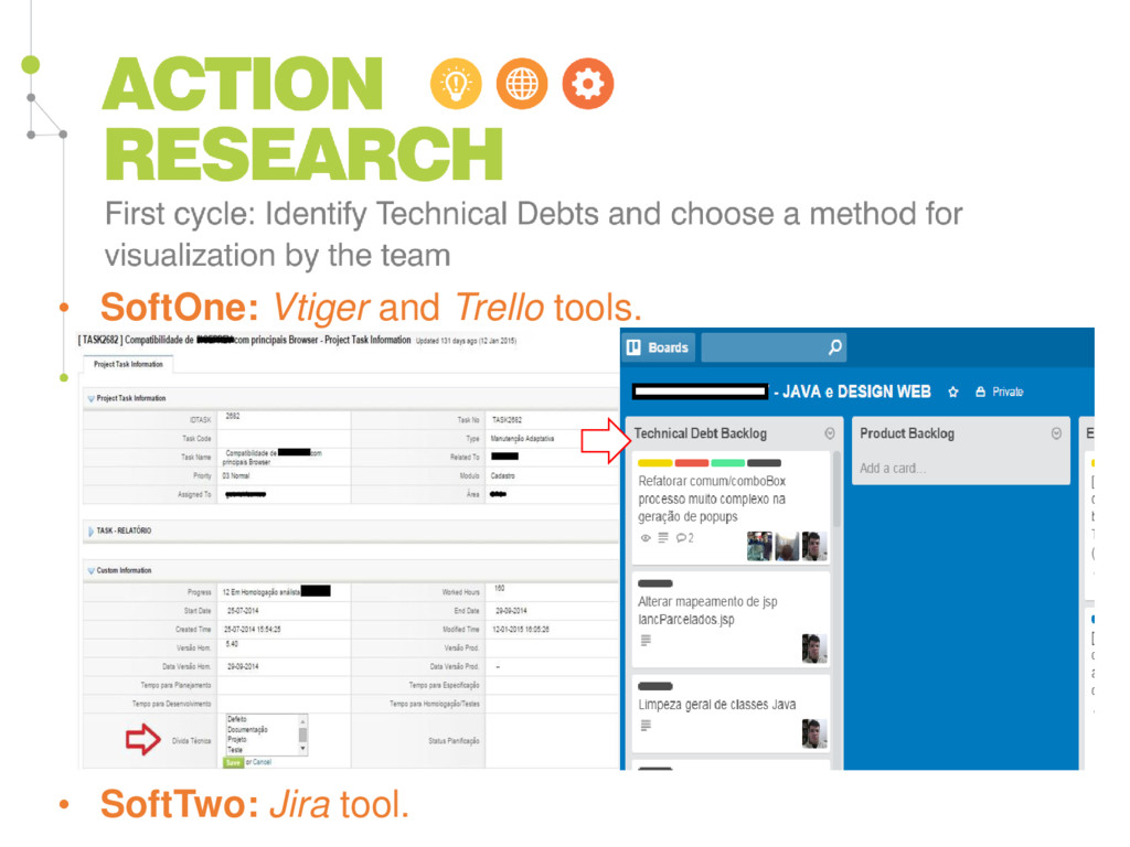 • SoftOne: Vtiger and Trello tools. • SoftTwo: ...