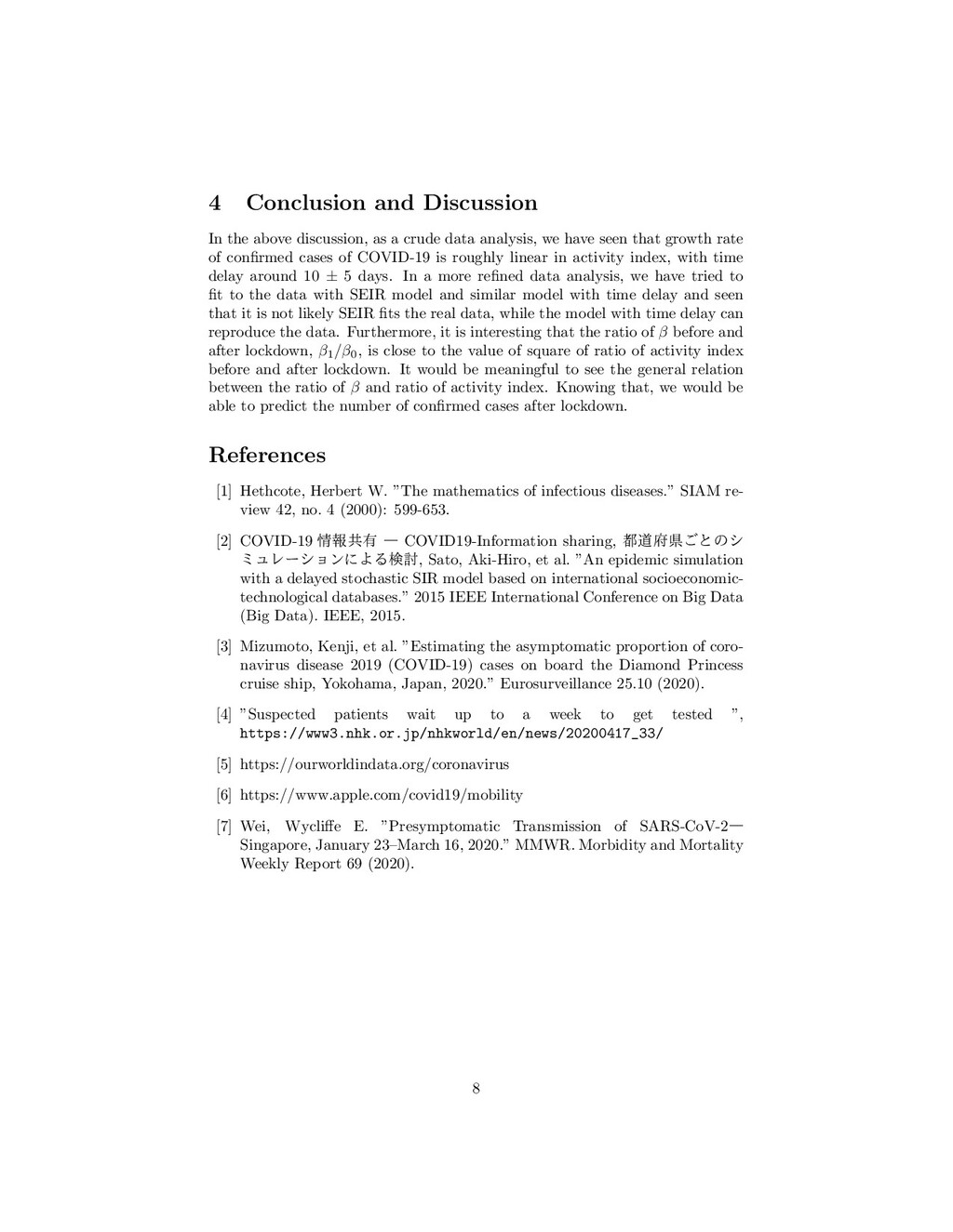 4 Conclusion and Discussion In the above discus...
