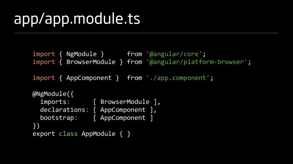 app/app.module.ts import { NgModule } from '@an...