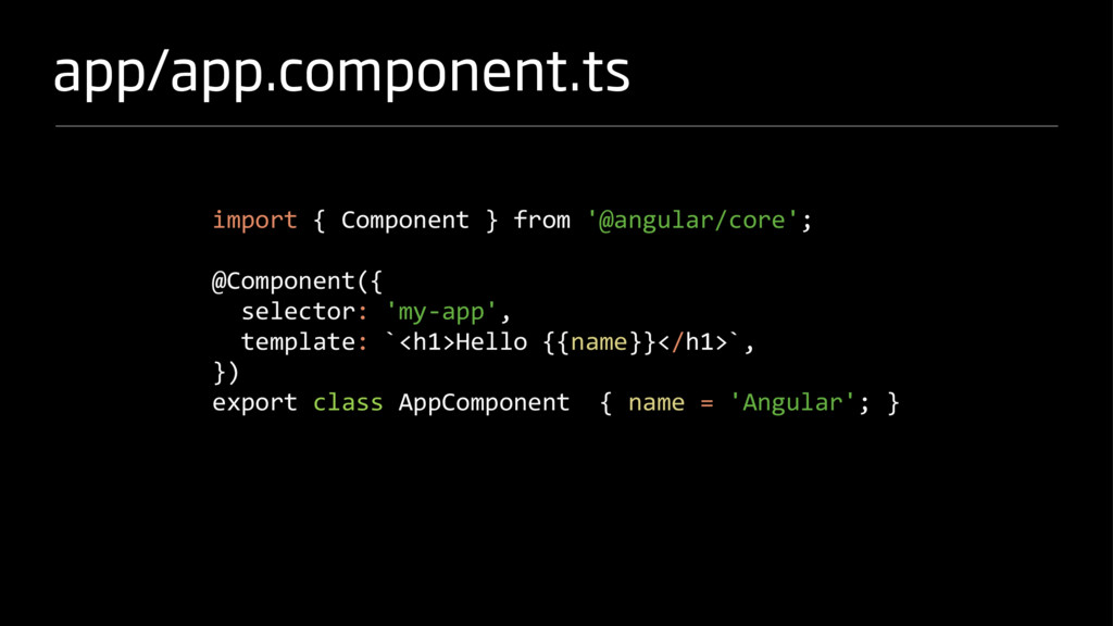 app/app.component.ts import { Component } from ...
