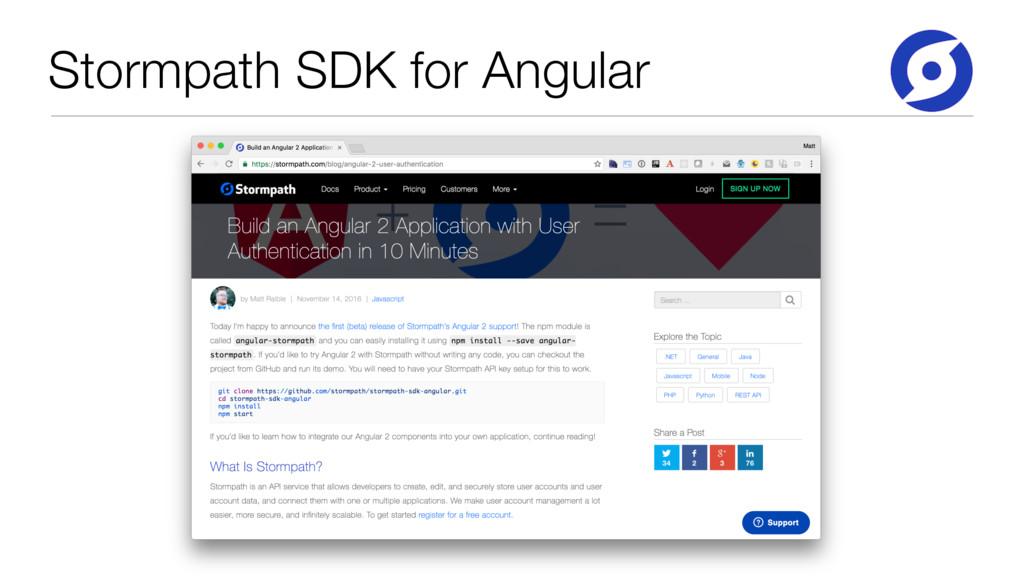 Stormpath SDK for Angular