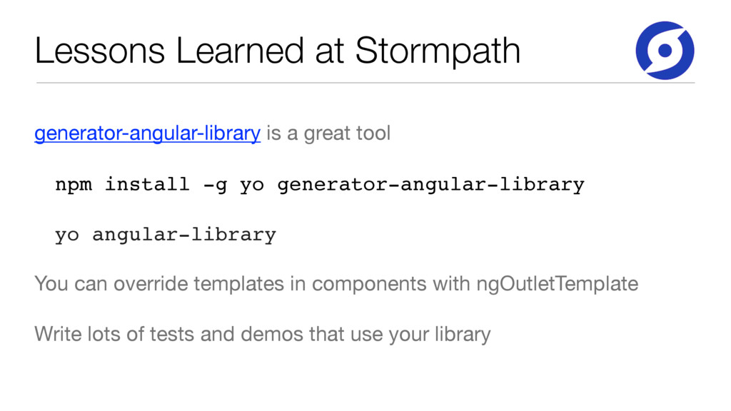 Lessons Learned at Stormpath generator-angular-...