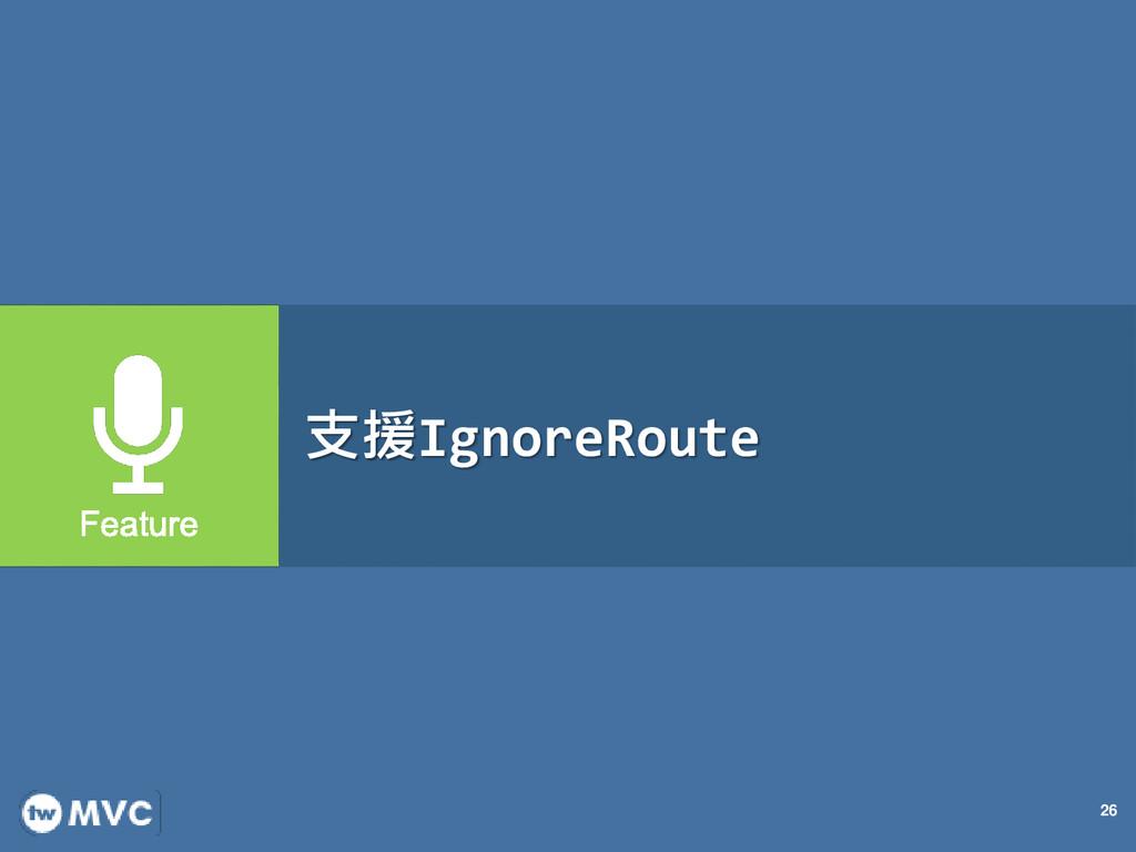 26 支援IgnoreRoute
