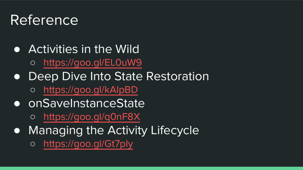 Reference ● Activities in the Wild ○ https://go...