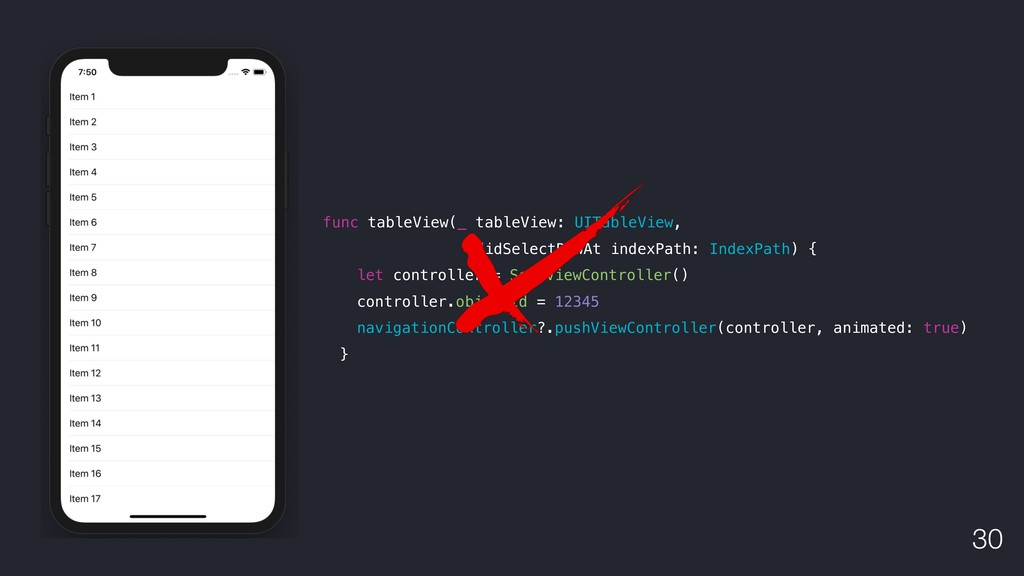 !30 func tableView(_ tableView: UITableView, di...