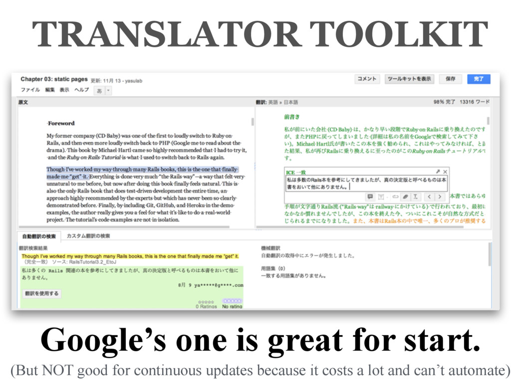 Google's one is great for start. TRANSLATOR TOO...