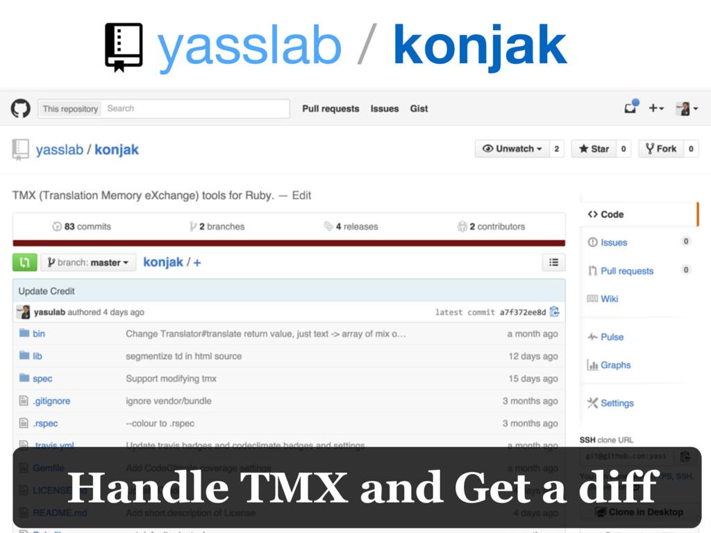 yasslab / konjak Handle TMX and Get a diff