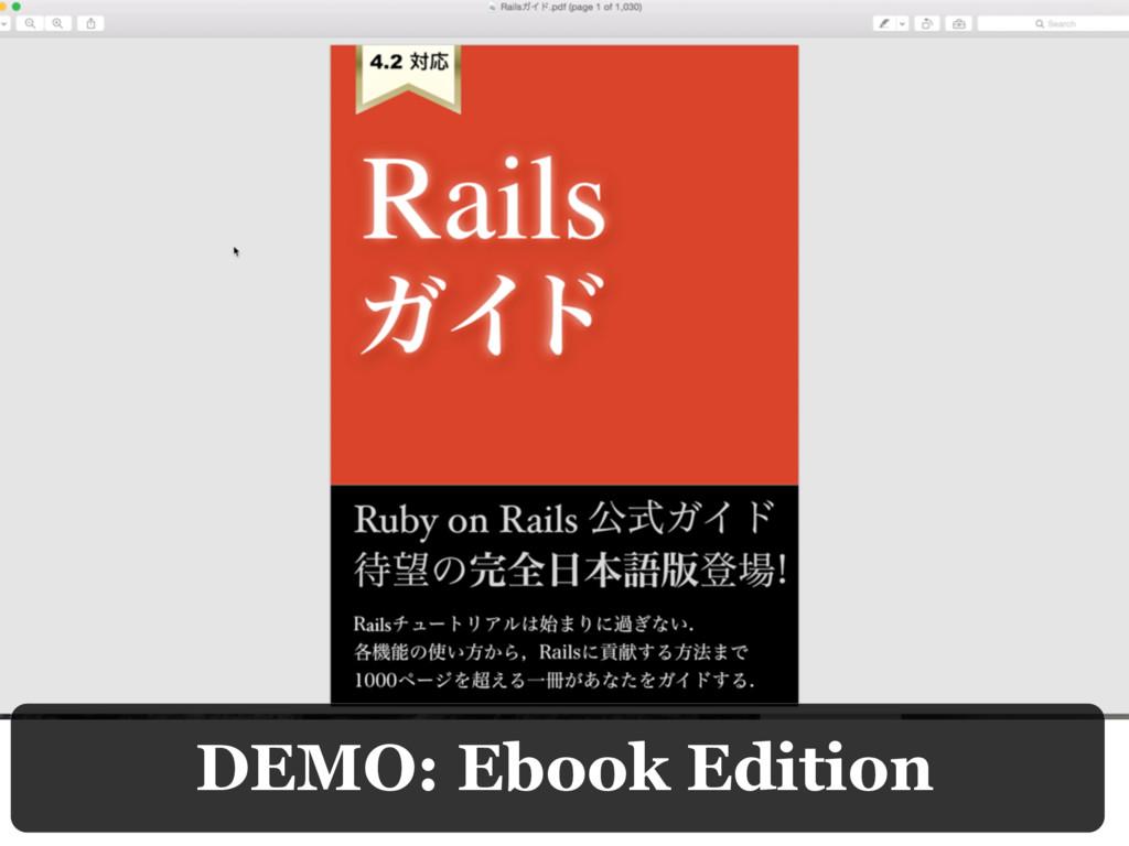 DEMO: Ebook Edition