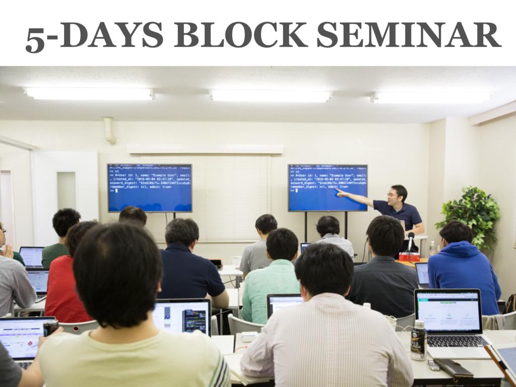 5-DAYS BLOCK SEMINAR
