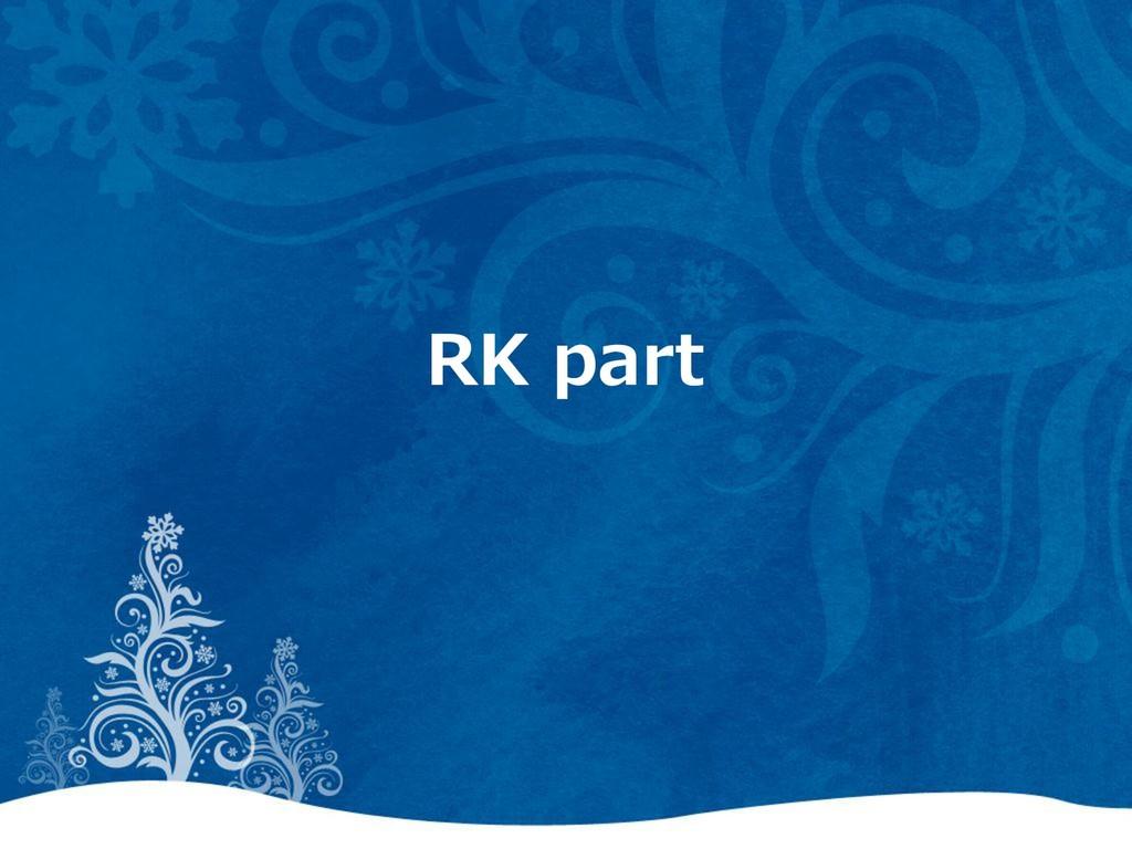 RK part
