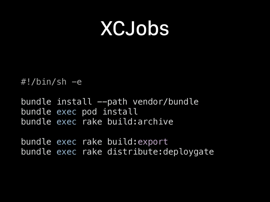 XCJobs #!/bin/sh -e