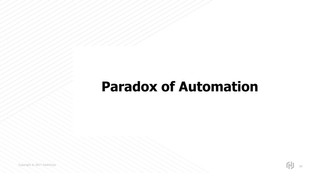 s Copyright © 2017 HashiCorp 38 Paradox of Auto...