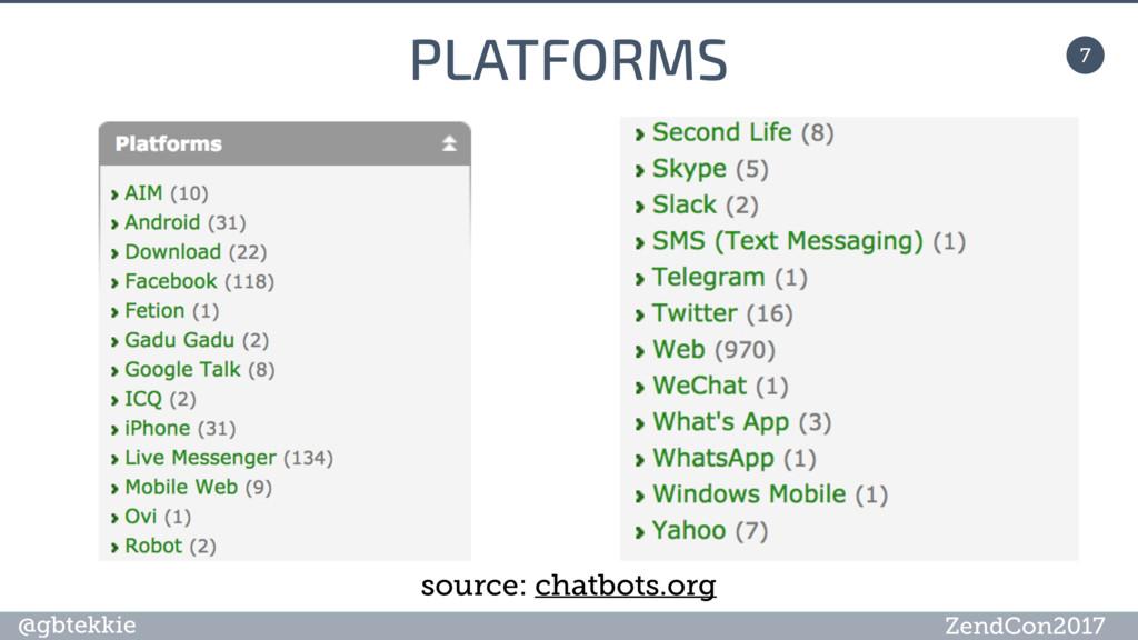 @gbtekkie ZendCon2017 PLATFORMS 7 source: chatb...