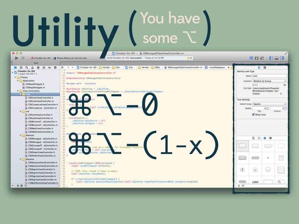 Utility You have some ⌥ ( ) ⌘⌥-0 ⌘⌥-(1-x)