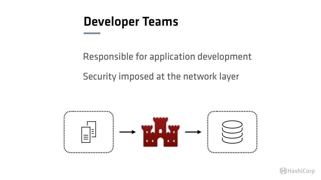 Developer Teams Responsible for application dev...