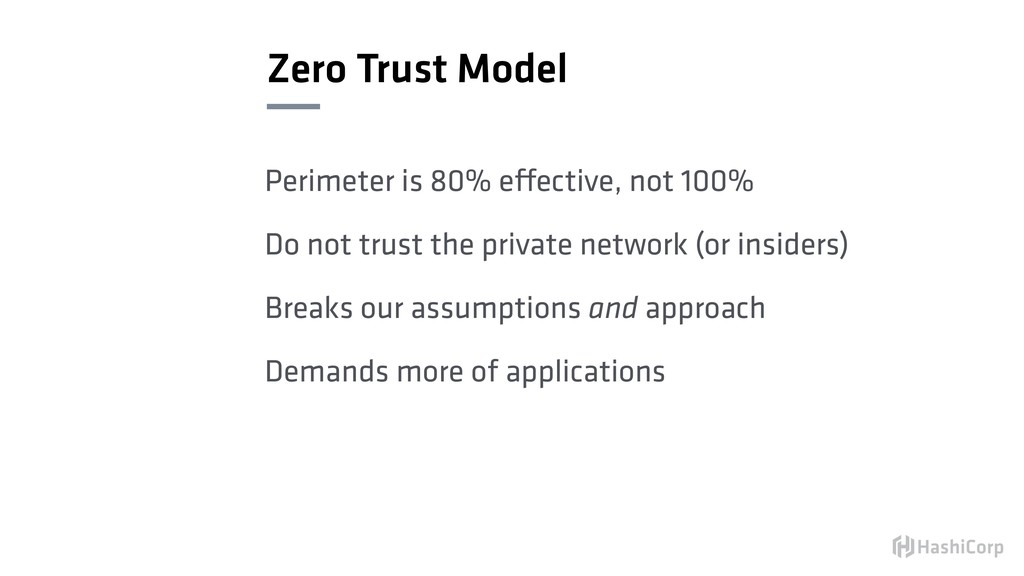Zero Trust Model Perimeter is 80% effective, no...