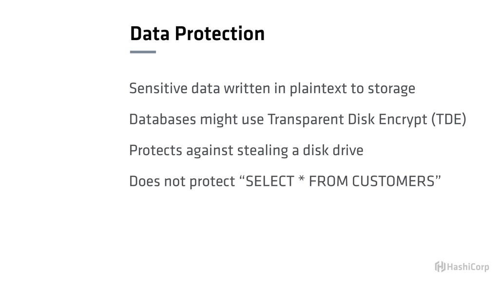 Data Protection Sensitive data written in plain...