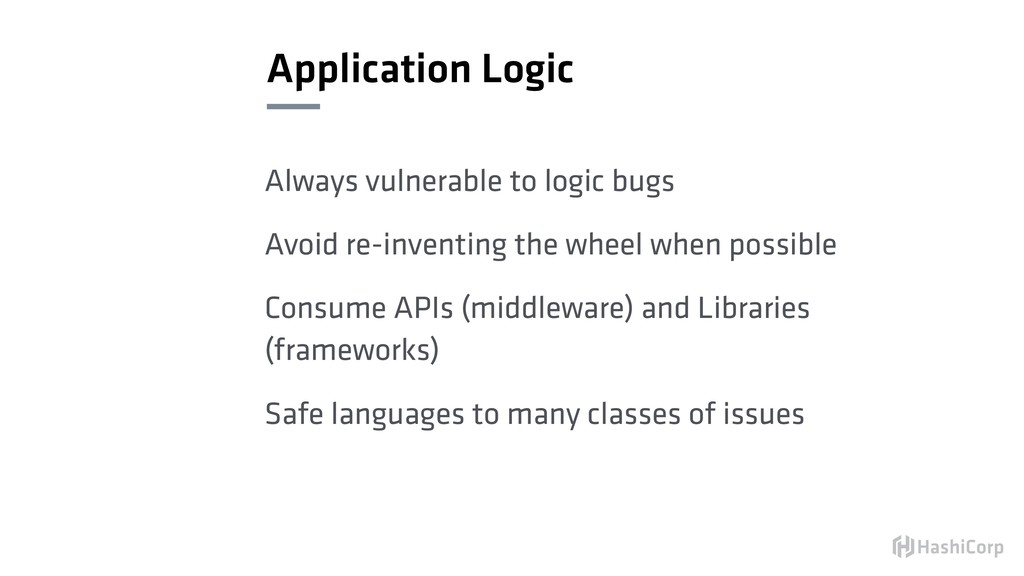 Application Logic Always vulnerable to logic bu...