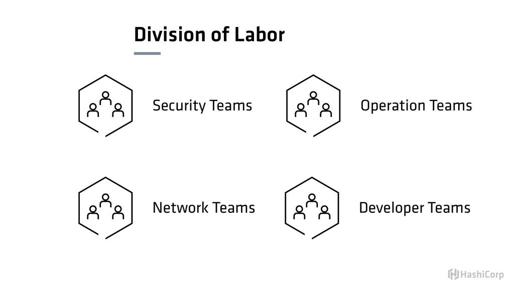 Division of Labor Security Teams Network Teams ...