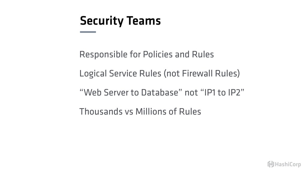 Security Teams Responsible for Policies and Rul...