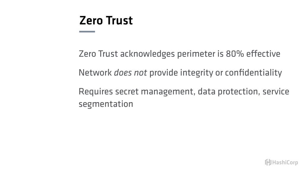 Zero Trust Zero Trust acknowledges perimeter is...