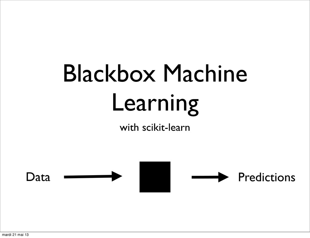 Blackbox Machine Learning with scikit-learn Dat...