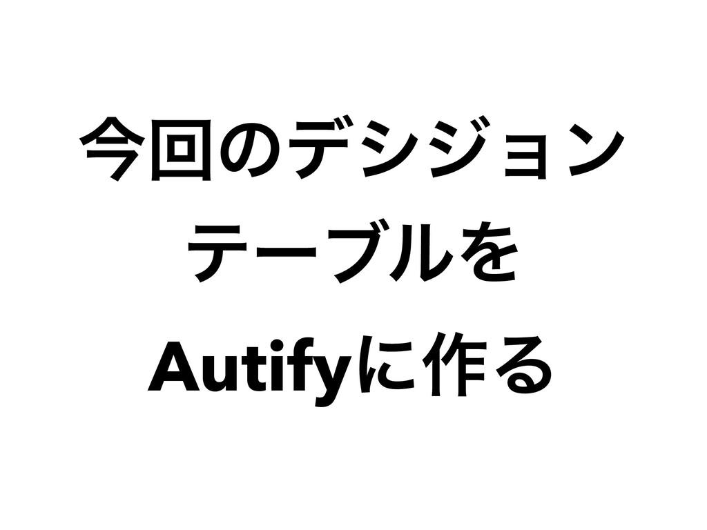 ࠓճͷσγδϣϯ   ςʔϒϧΛ   Autifyʹ࡞Δ
