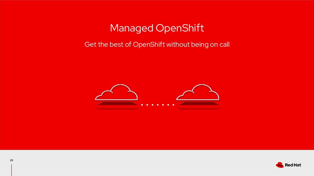 29 Managed OpenShift Get the best of OpenShift ...