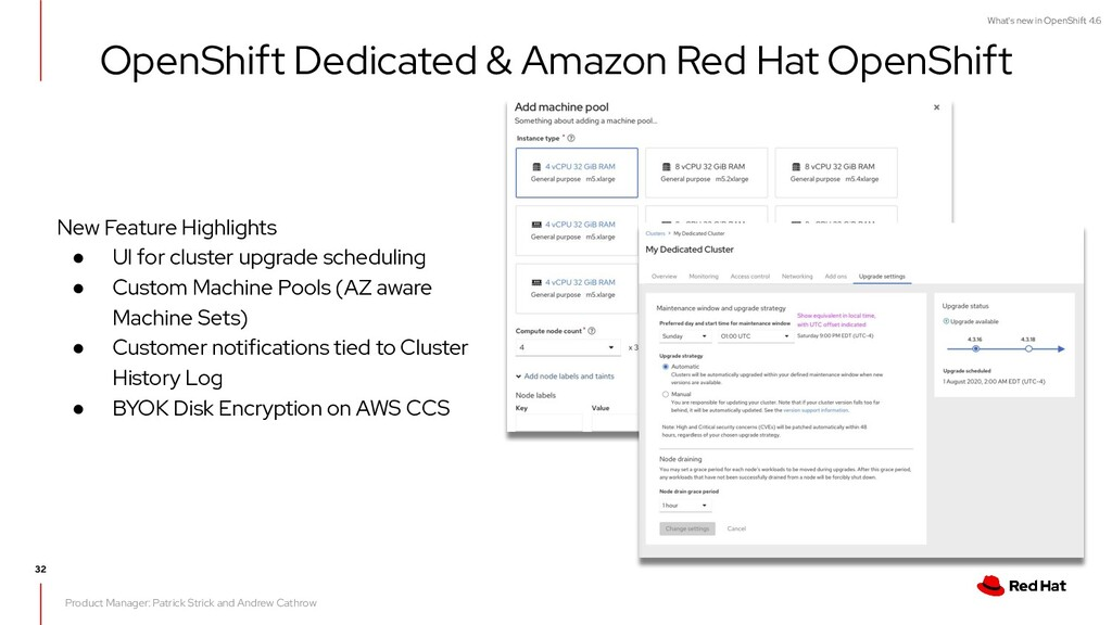 What's new in OpenShift 4.6 32 New Feature High...