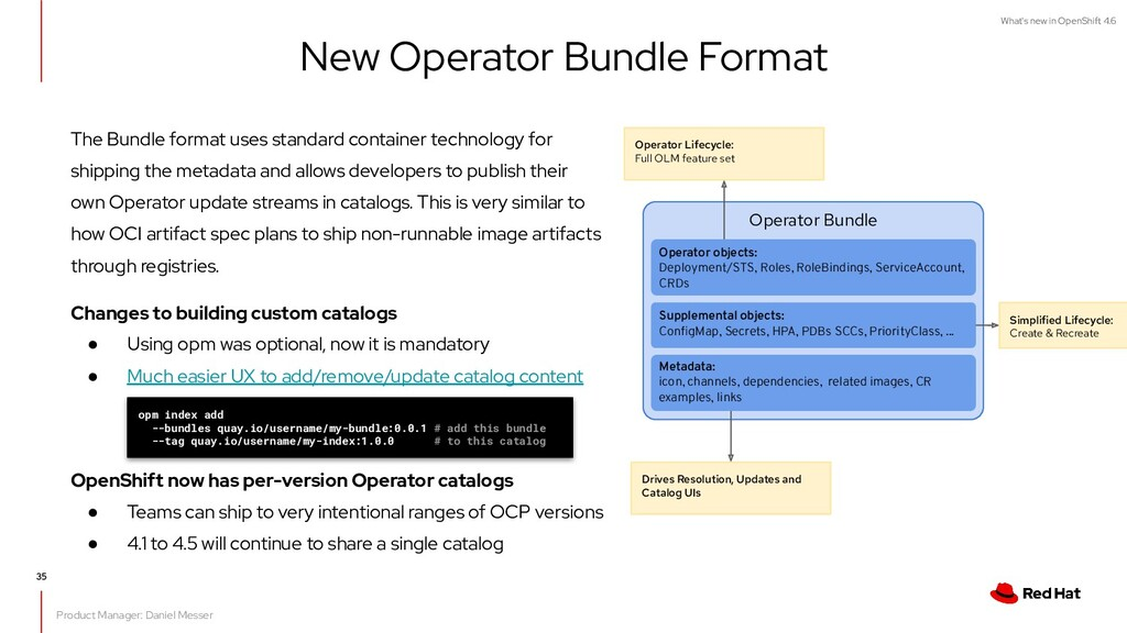 What's new in OpenShift 4.6 New Operator Bundle...