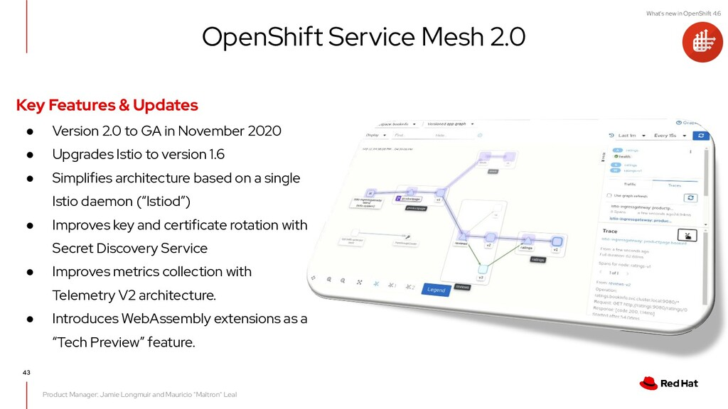 What's new in OpenShift 4.6 43 Product Manager:...