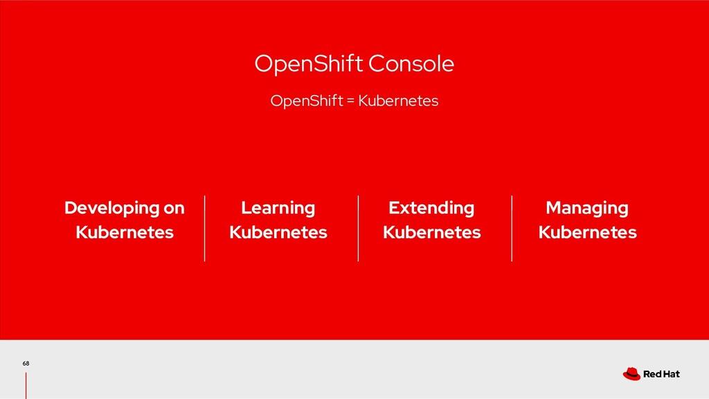 68 OpenShift Console OpenShift = Kubernetes Man...