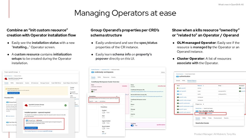 """What's new in OpenShift 4.6 Combine an """"init cu..."""