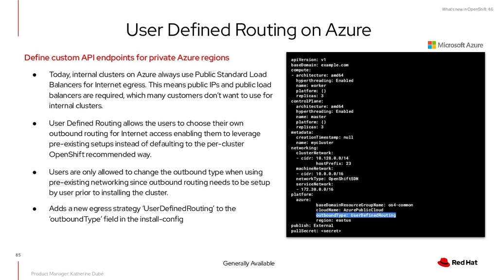 What's new in OpenShift 4.6 User Defined Routin...