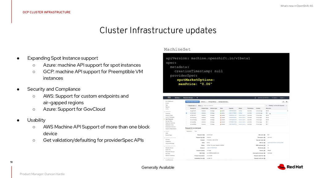 What's new in OpenShift 4.6 Cluster Infrastruct...
