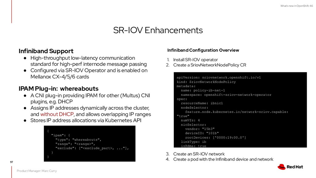 What's new in OpenShift 4.6 SR-IOV Enhancements...
