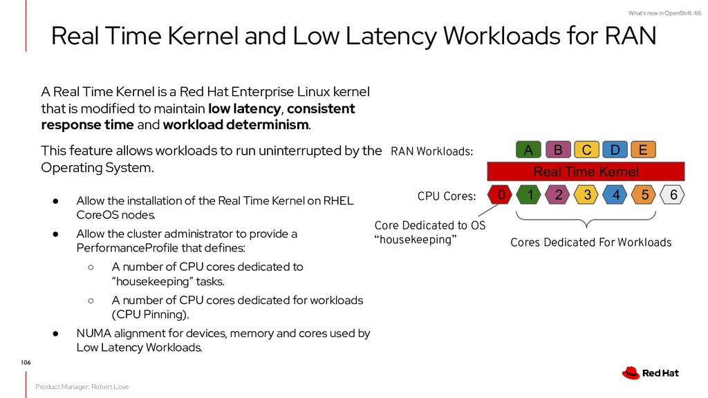 What's new in OpenShift 4.6 A Real Time Kernel ...