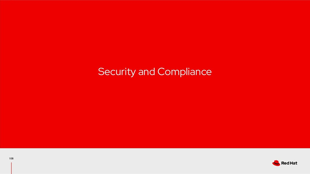 108 Security and Compliance