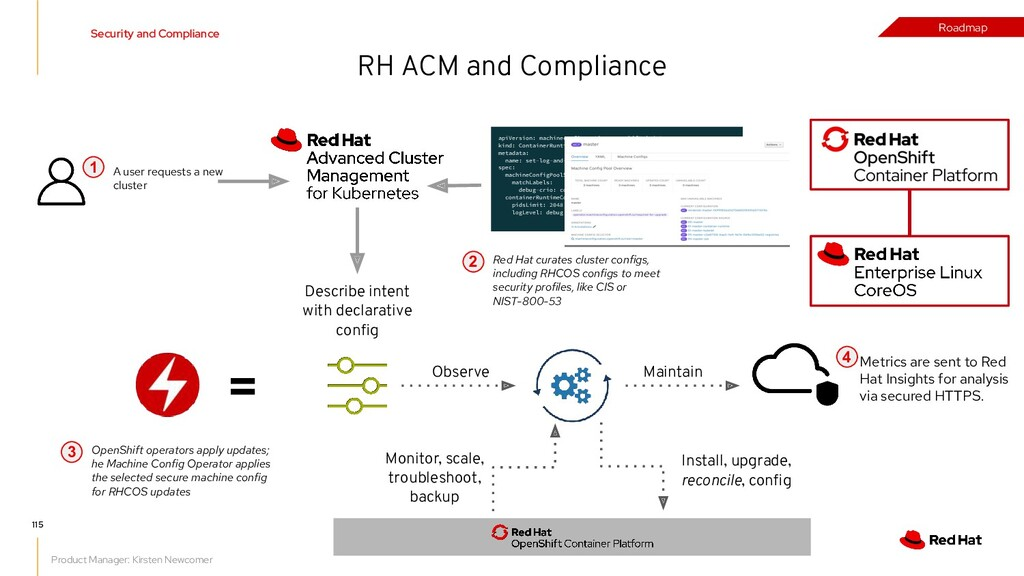 RH ACM and Compliance = Install, upgrade, recon...