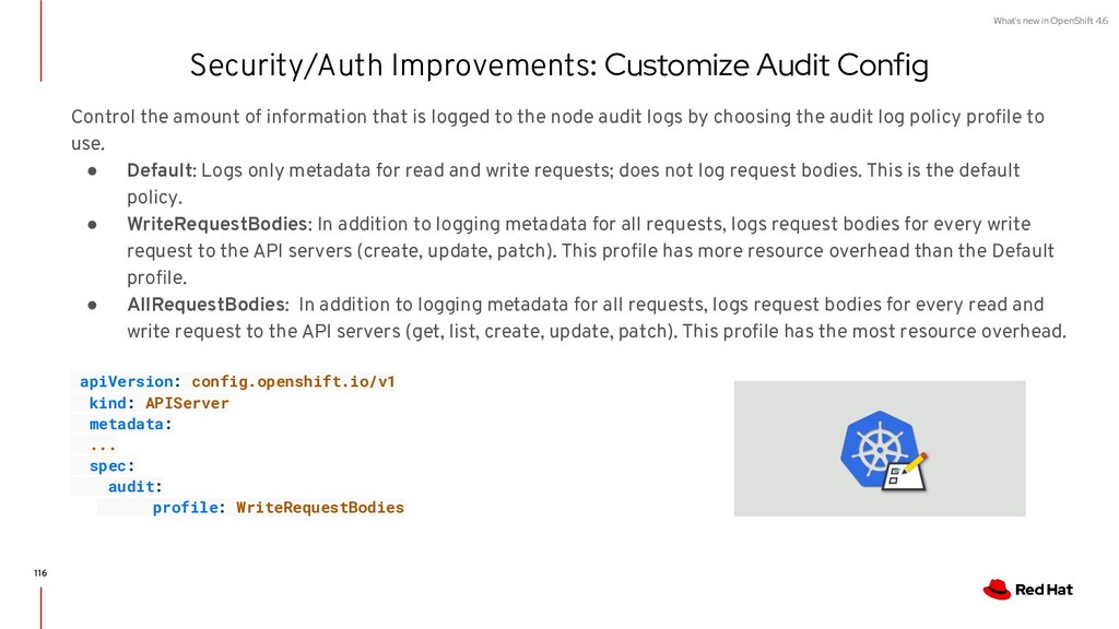 What's new in OpenShift 4.6 Security/Auth Impro...