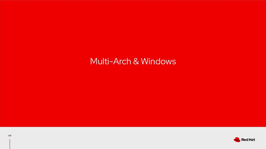 119 Multi-Arch & Windows
