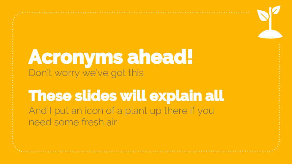Acronyms ahead! Don't worry we've got this Thes...