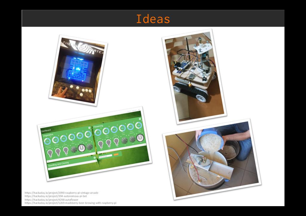 Ideas h)ps://hackaday.io/project/2090-raspberry...