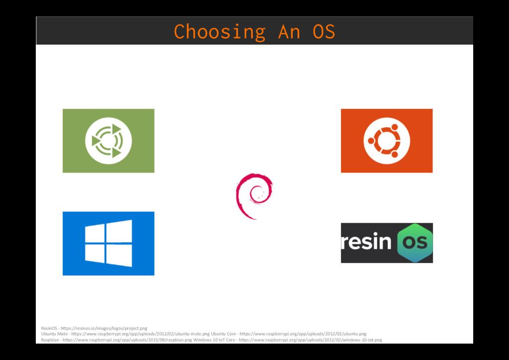 Choosing An OS ResinOS - h)ps://resinos.io/imag...