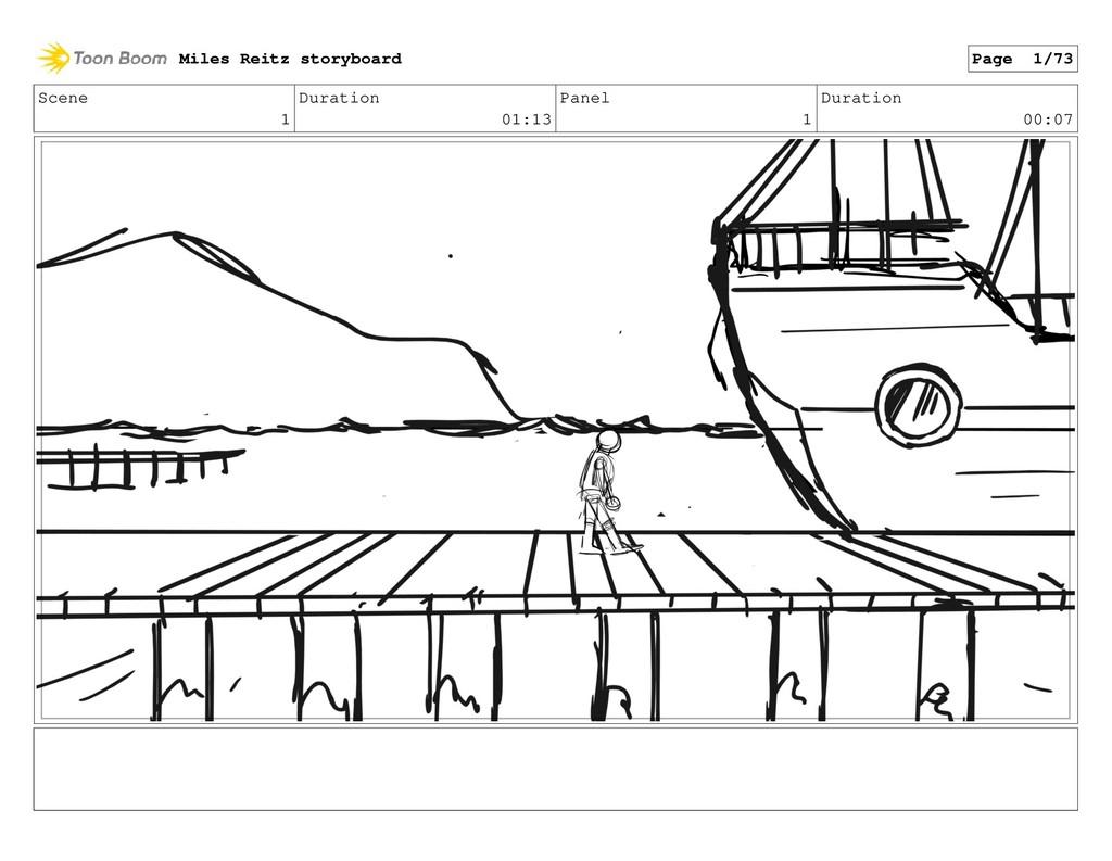 Scene 1 Duration 01:13 Panel 1 Duration 00:07 M...