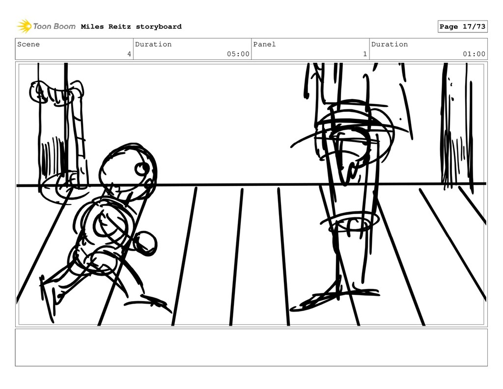 Scene 4 Duration 05:00 Panel 1 Duration 01:00 M...