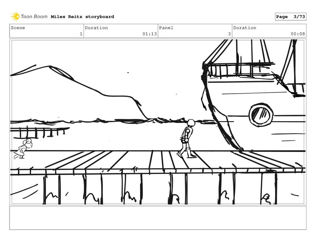 Scene 1 Duration 01:13 Panel 3 Duration 00:08 M...